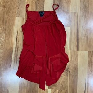 WET SEAL Red layered tank top, size M